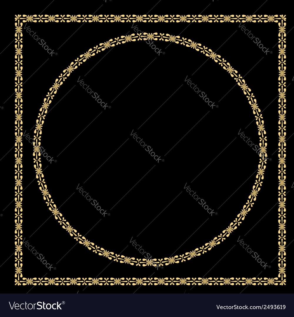 Set of vintage decorative frames vector