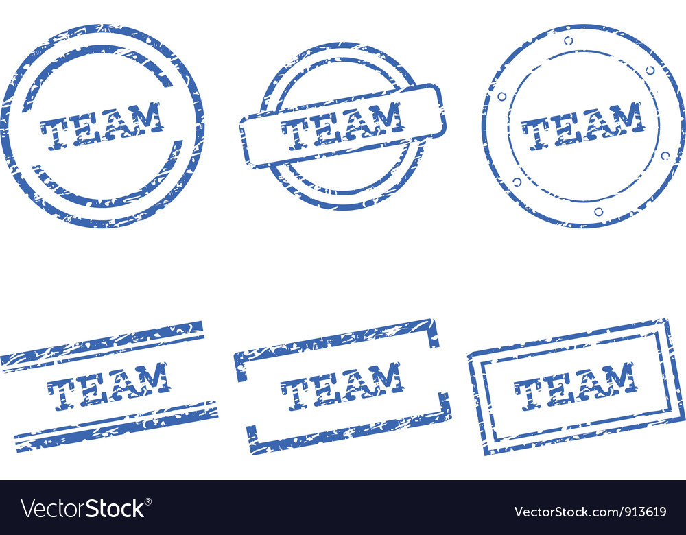 Team stamps vector | Price: 1 Credit (USD $1)