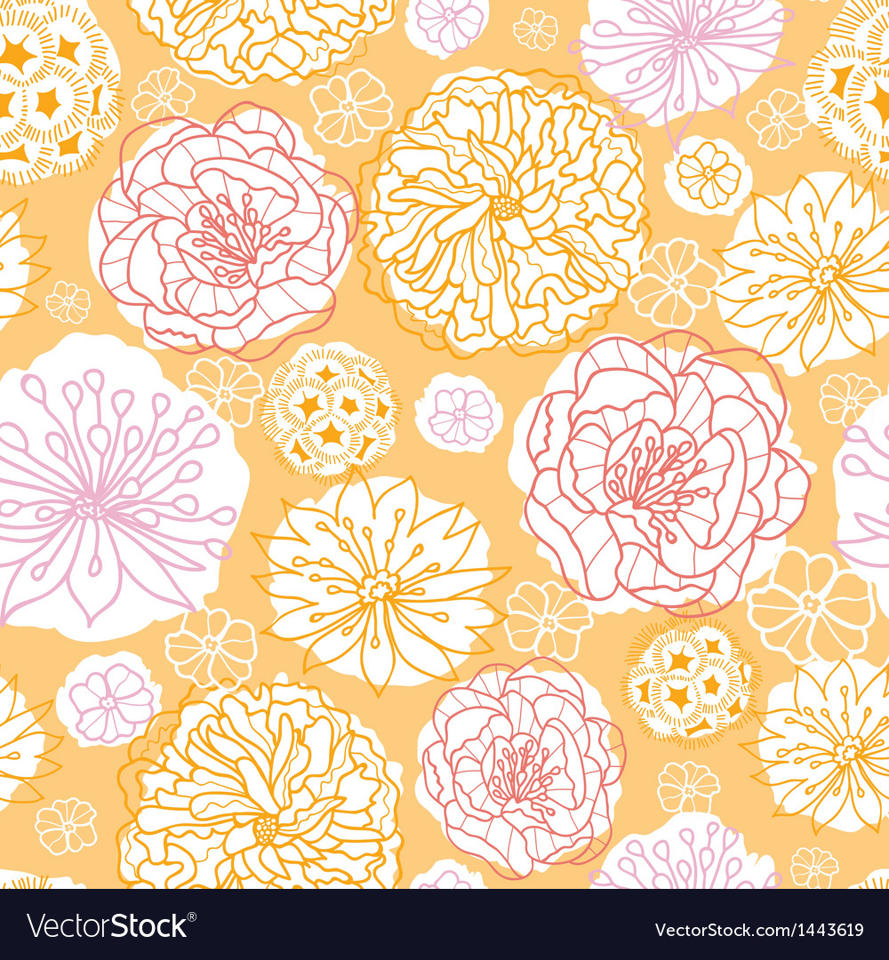 Warm day flowers seamless pattern background vector | Price: 1 Credit (USD $1)