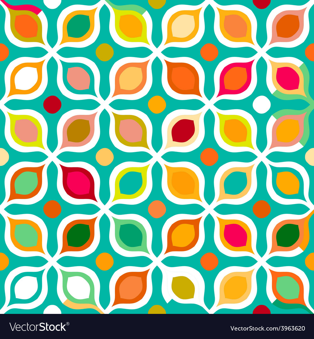 Abstract geometric seamless pattern vector | Price: 1 Credit (USD $1)