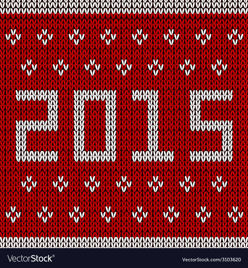 New year knitted background vector | Price: 1 Credit (USD $1)