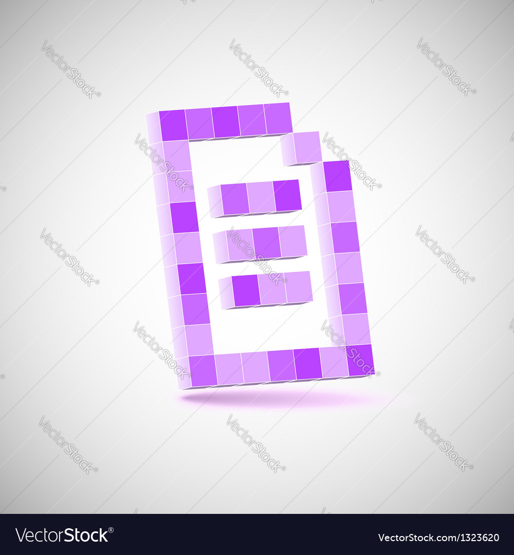 Three-dimensional shape  pixel style the paper vector | Price: 1 Credit (USD $1)