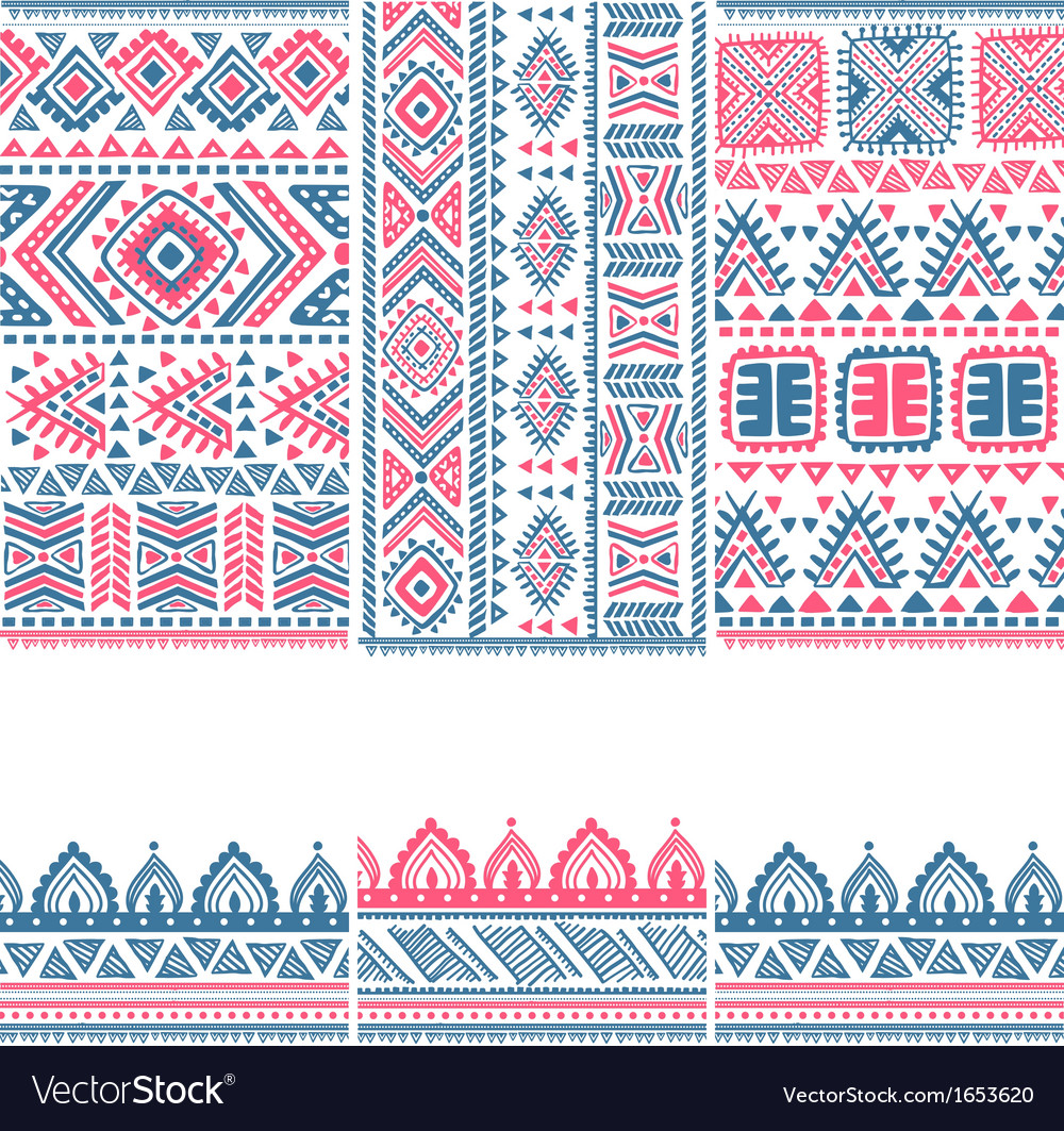 Tribal vintage ethnic banners vector | Price: 1 Credit (USD $1)