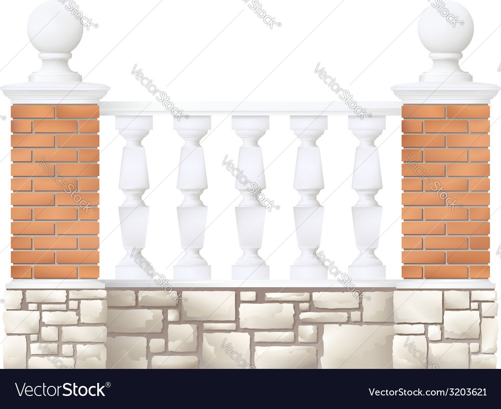 Balustrade vector | Price: 1 Credit (USD $1)