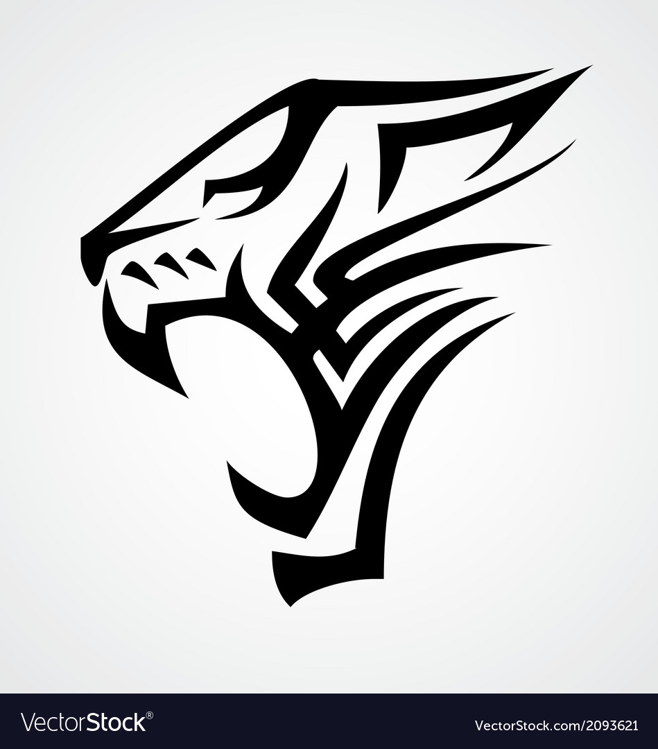 Big cat tribal vector | Price: 1 Credit (USD $1)