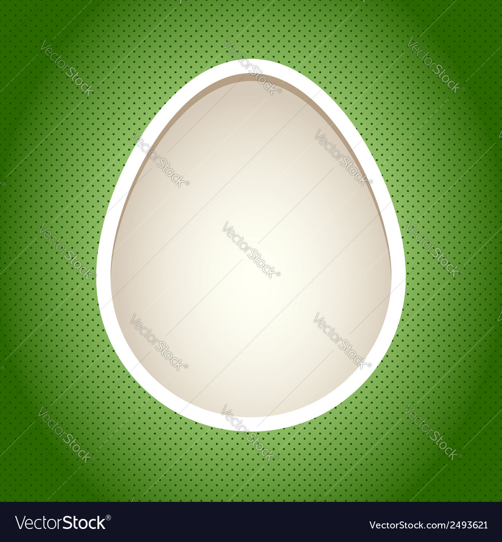 Easter paper cut card template with egg vector | Price: 1 Credit (USD $1)