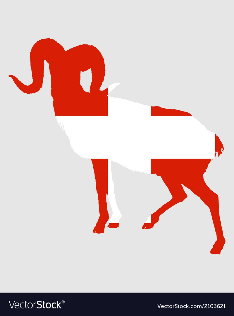 Flag of switzerland with ram vector | Price: 1 Credit (USD $1)