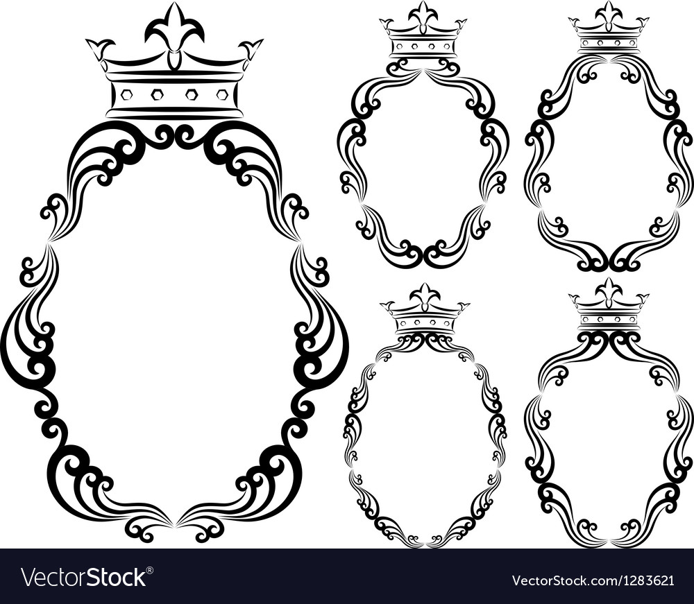 Frames with crowns vector | Price: 1 Credit (USD $1)
