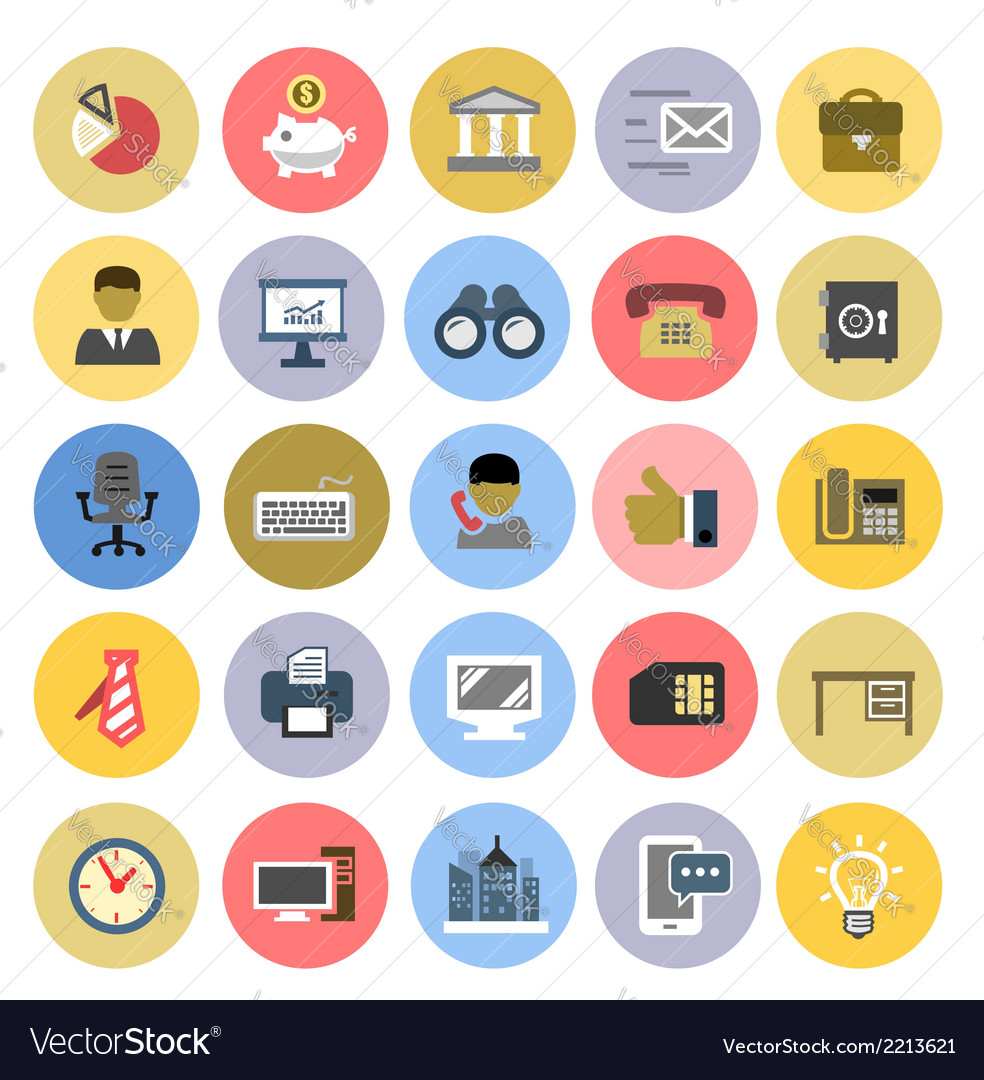 Office icons set vector   Price: 1 Credit (USD $1)