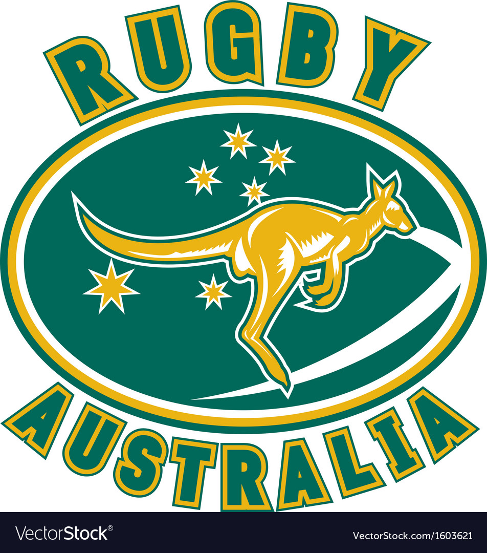 Rugby australia kangaroo wallaby vector | Price: 1 Credit (USD $1)