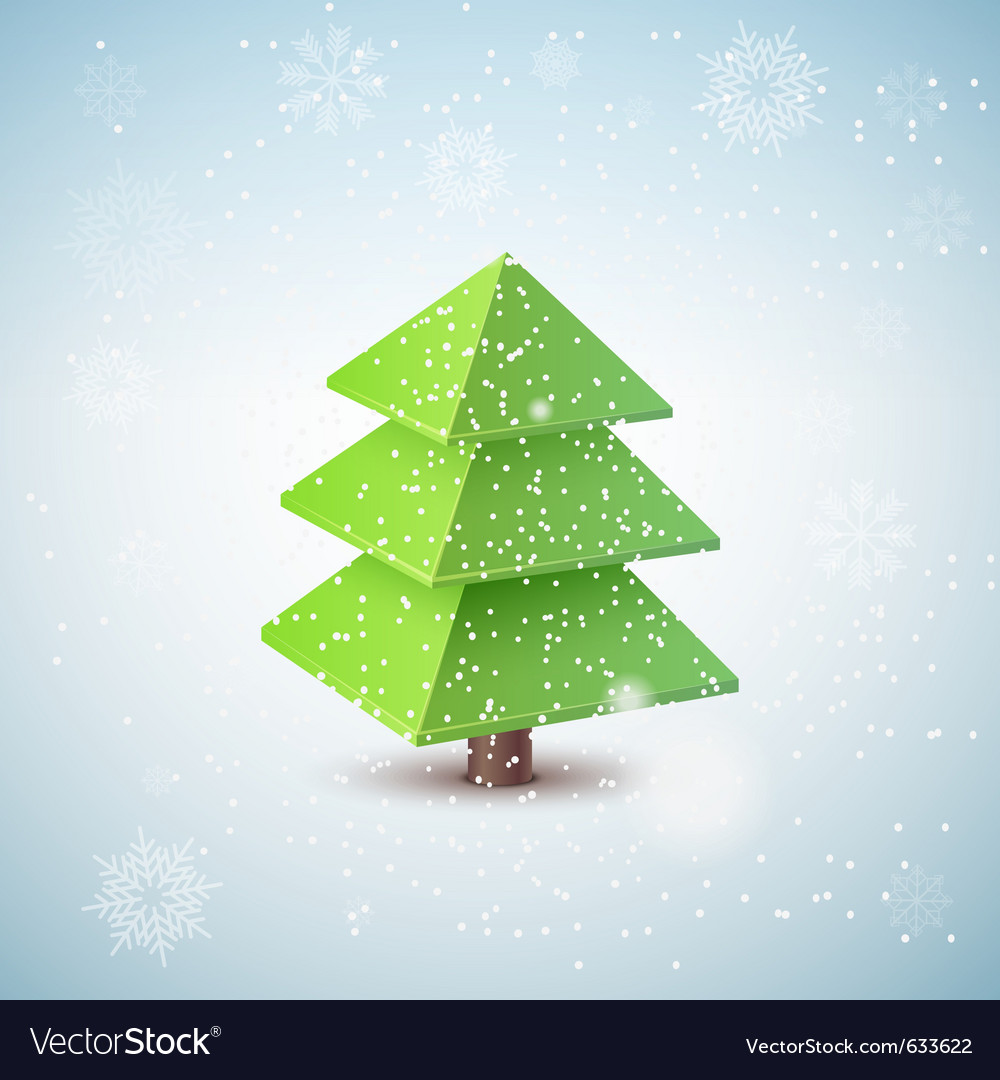 3d christmas tree vector | Price: 1 Credit (USD $1)