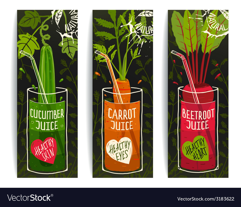 Drinking diet vegetable juice cartoon design on vector | Price: 1 Credit (USD $1)