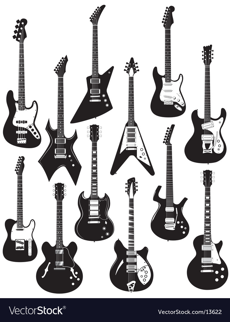 Guitars vector | Price: 3 Credit (USD $3)