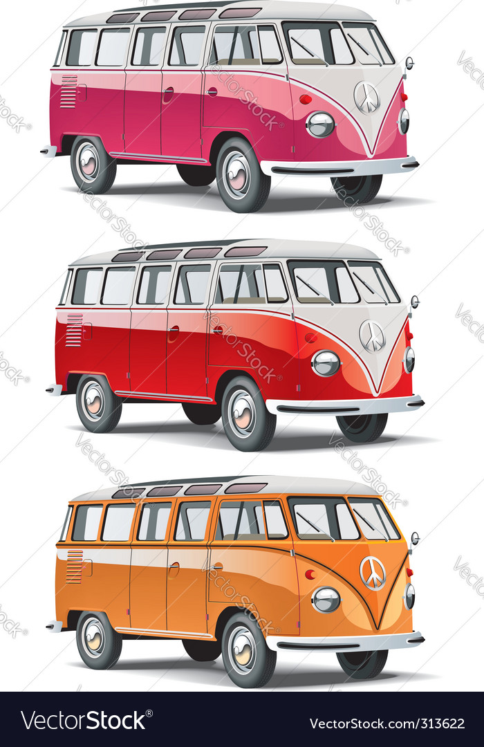 Mini-bus set vector | Price: 5 Credit (USD $5)