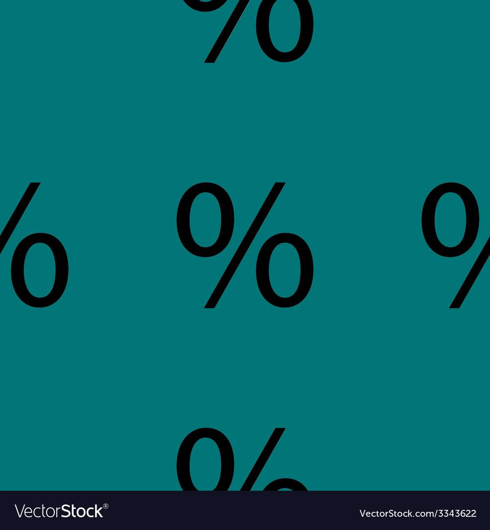 Percent discount flat design seamless gray pattern vector | Price: 1 Credit (USD $1)