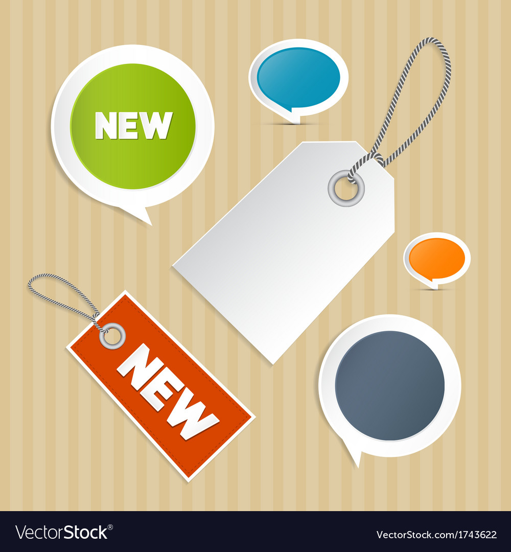 Set of labels tags vector | Price: 1 Credit (USD $1)