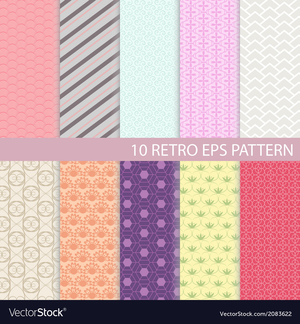 Set of vintage graphic pattern vector | Price: 1 Credit (USD $1)
