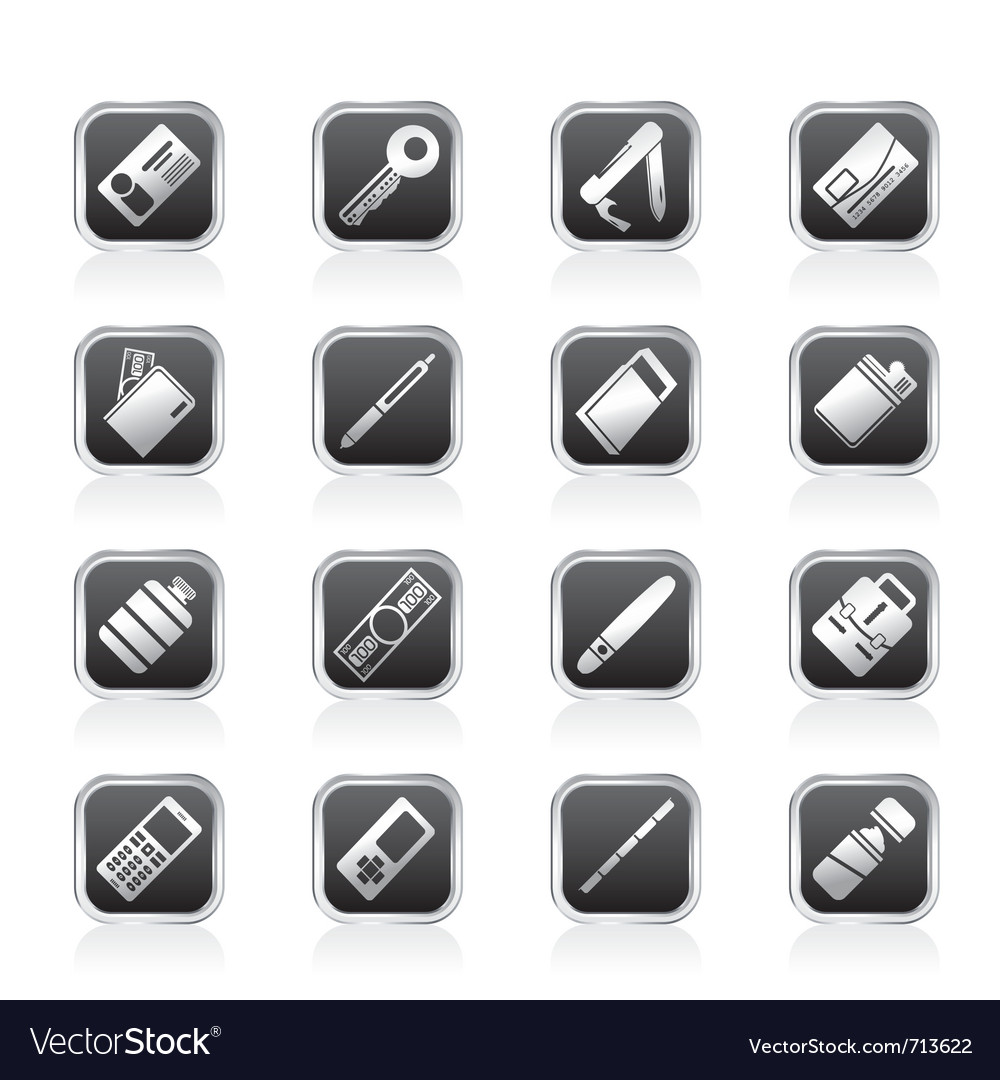 Simple object icons vector | Price: 1 Credit (USD $1)