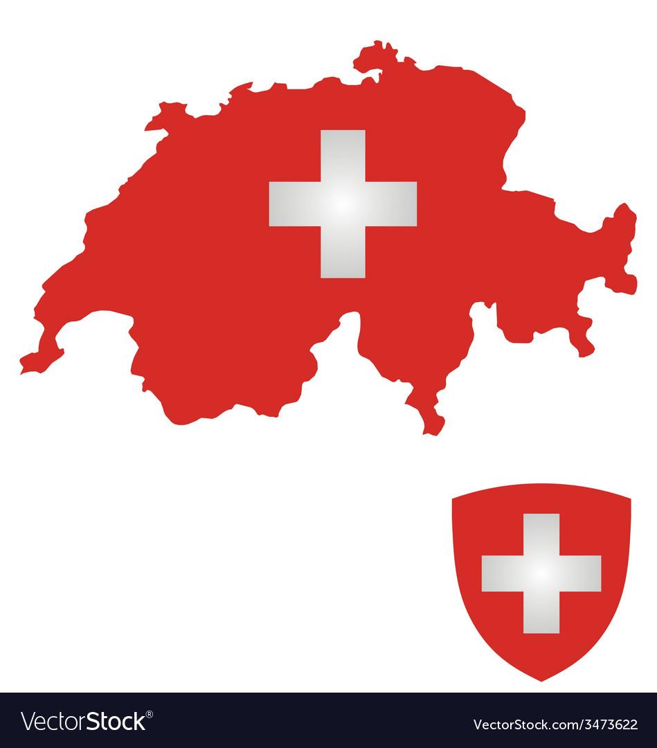 Switzerland flag vector | Price: 1 Credit (USD $1)