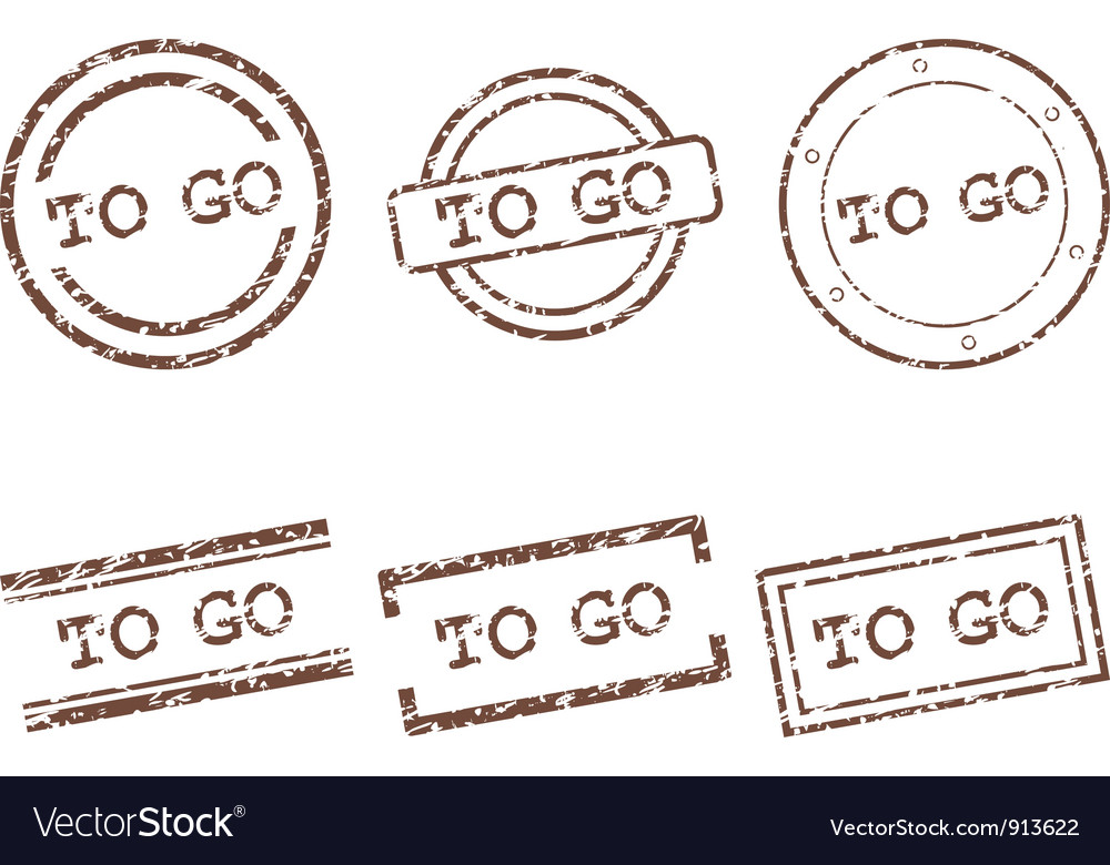 To go stamps vector | Price: 1 Credit (USD $1)