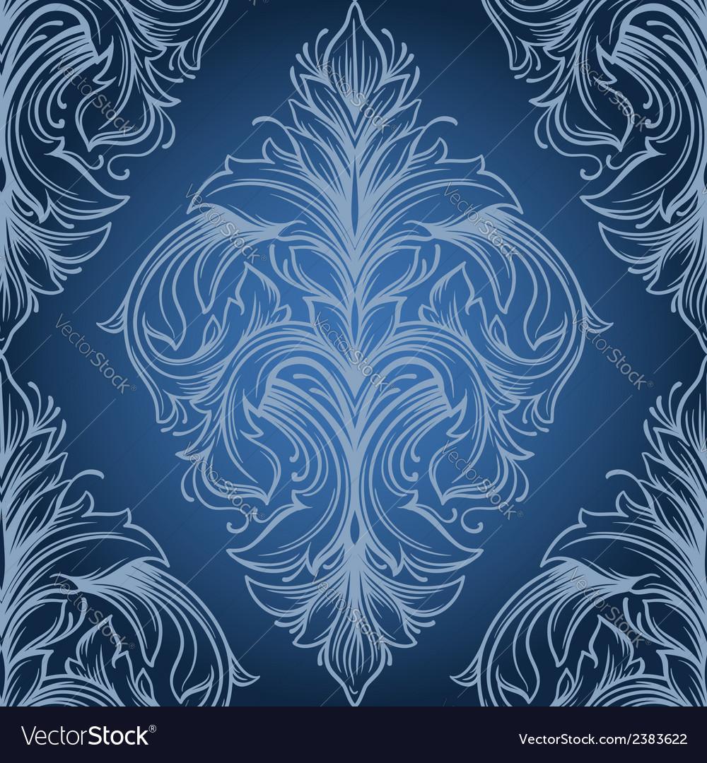 Vintage victorian seamless pattern vector | Price: 1 Credit (USD $1)