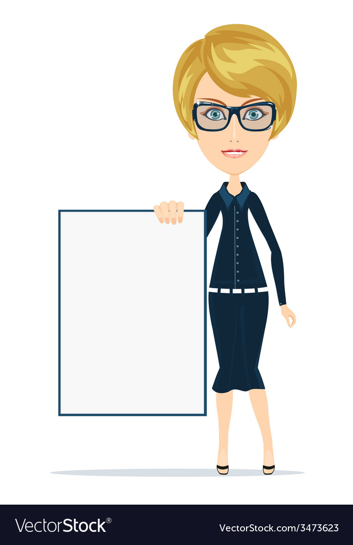 Cartoon teacher or businesswoman explaining and vector | Price: 1 Credit (USD $1)