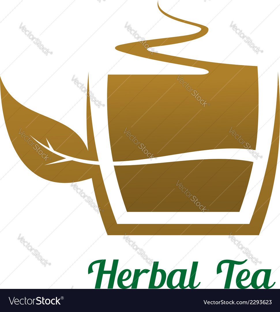 Steaming cup of herbal tea icon or label vector | Price: 1 Credit (USD $1)