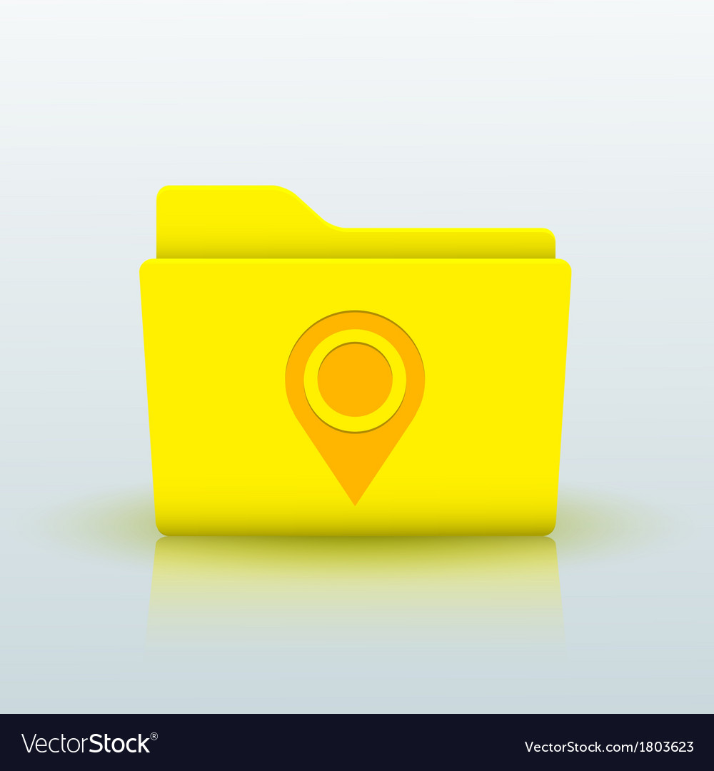 Yellow folder on blue background eps10 vector   Price: 1 Credit (USD $1)