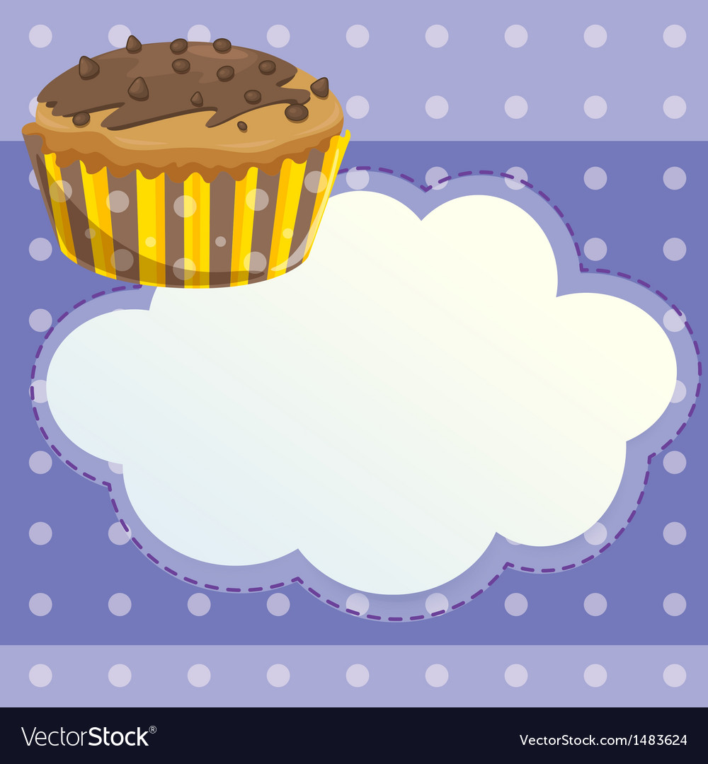 A stationery with a mocha flavored cupcake vector | Price: 1 Credit (USD $1)