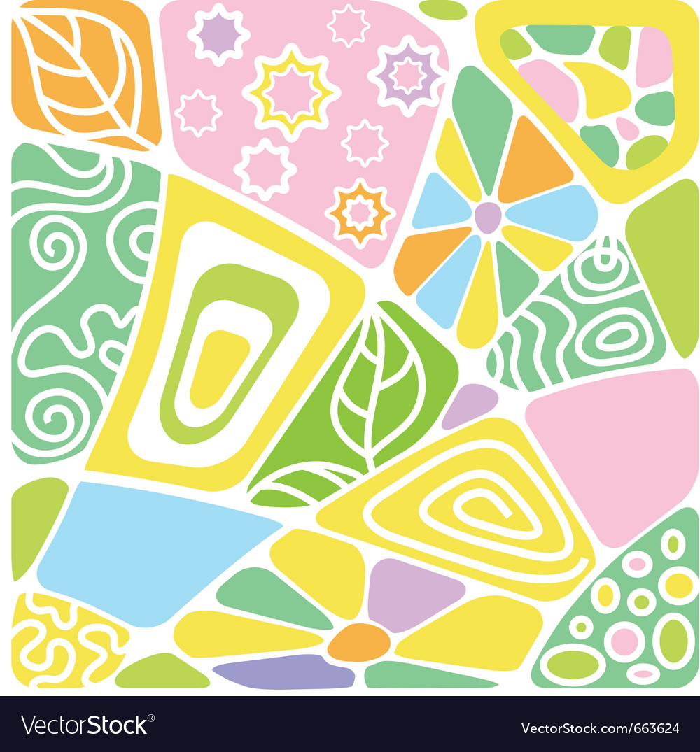 Background mosaic with pattern vector | Price: 1 Credit (USD $1)