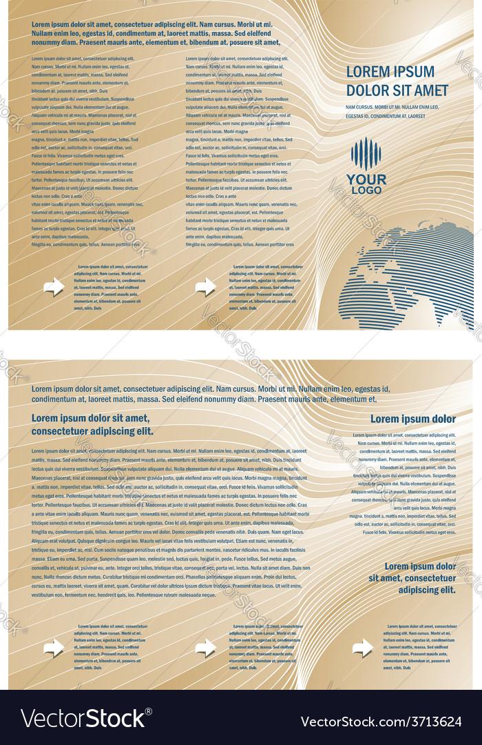 Brochure 3d line globe tri-fold vector | Price: 1 Credit (USD $1)