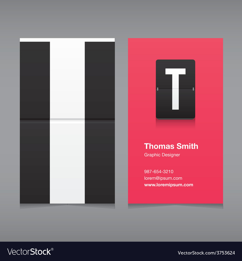 Business card letter t vector | Price: 1 Credit (USD $1)