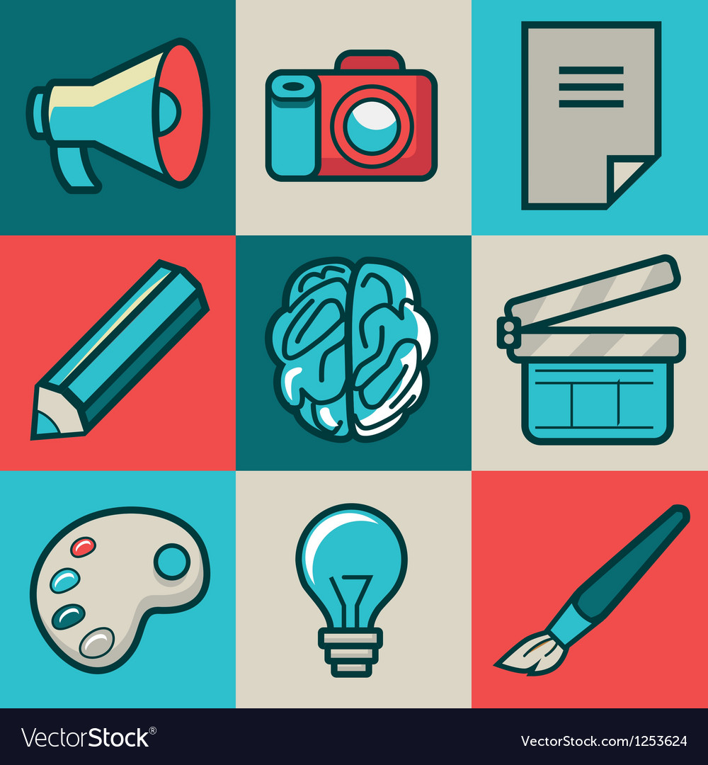 Creative icons vector | Price: 3 Credit (USD $3)