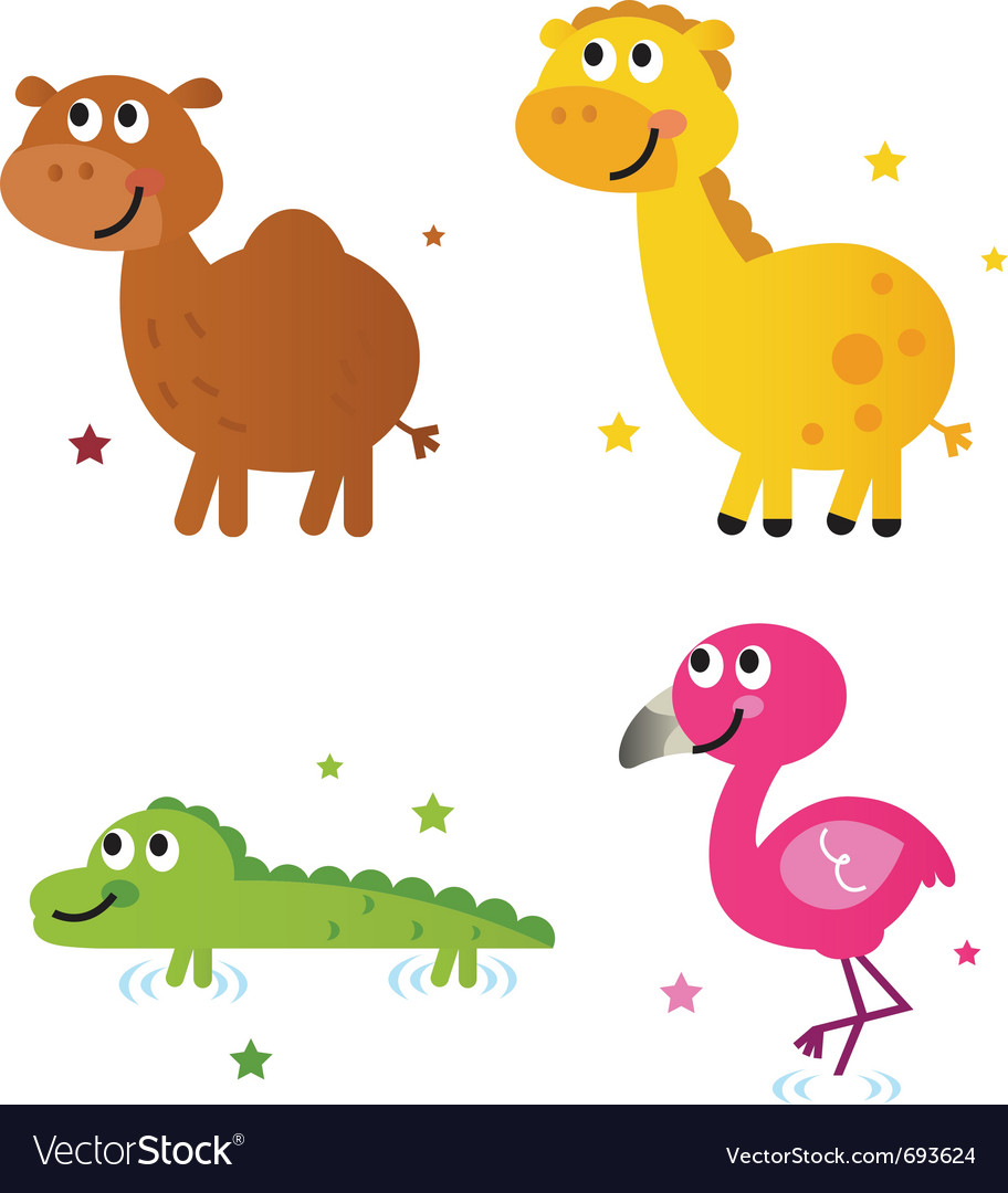 Cute safari africa animals vector | Price: 1 Credit (USD $1)