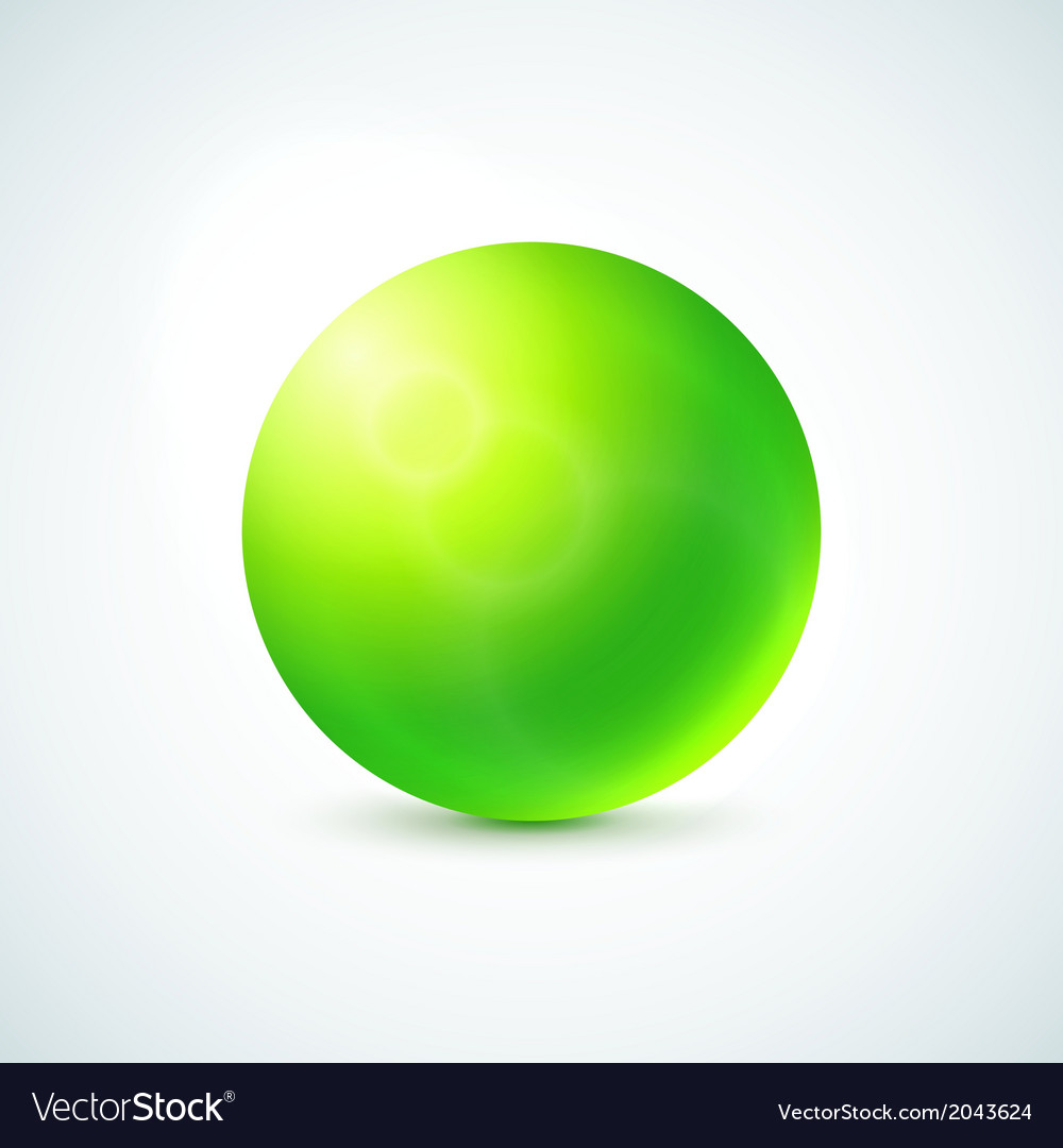 Green glossy sphere isolated on white vector | Price: 1 Credit (USD $1)