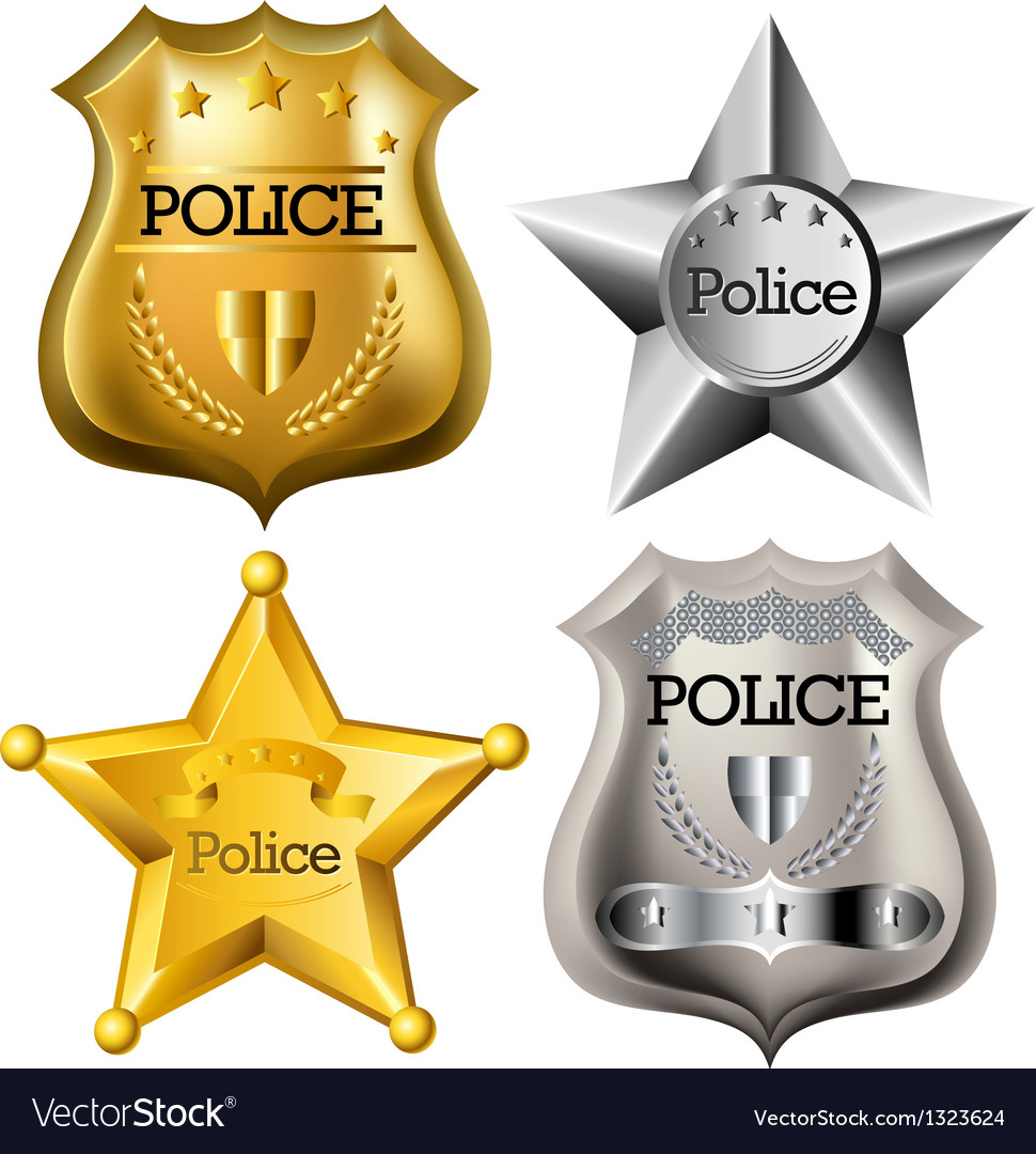 Police badge set vector | Price: 3 Credit (USD $3)