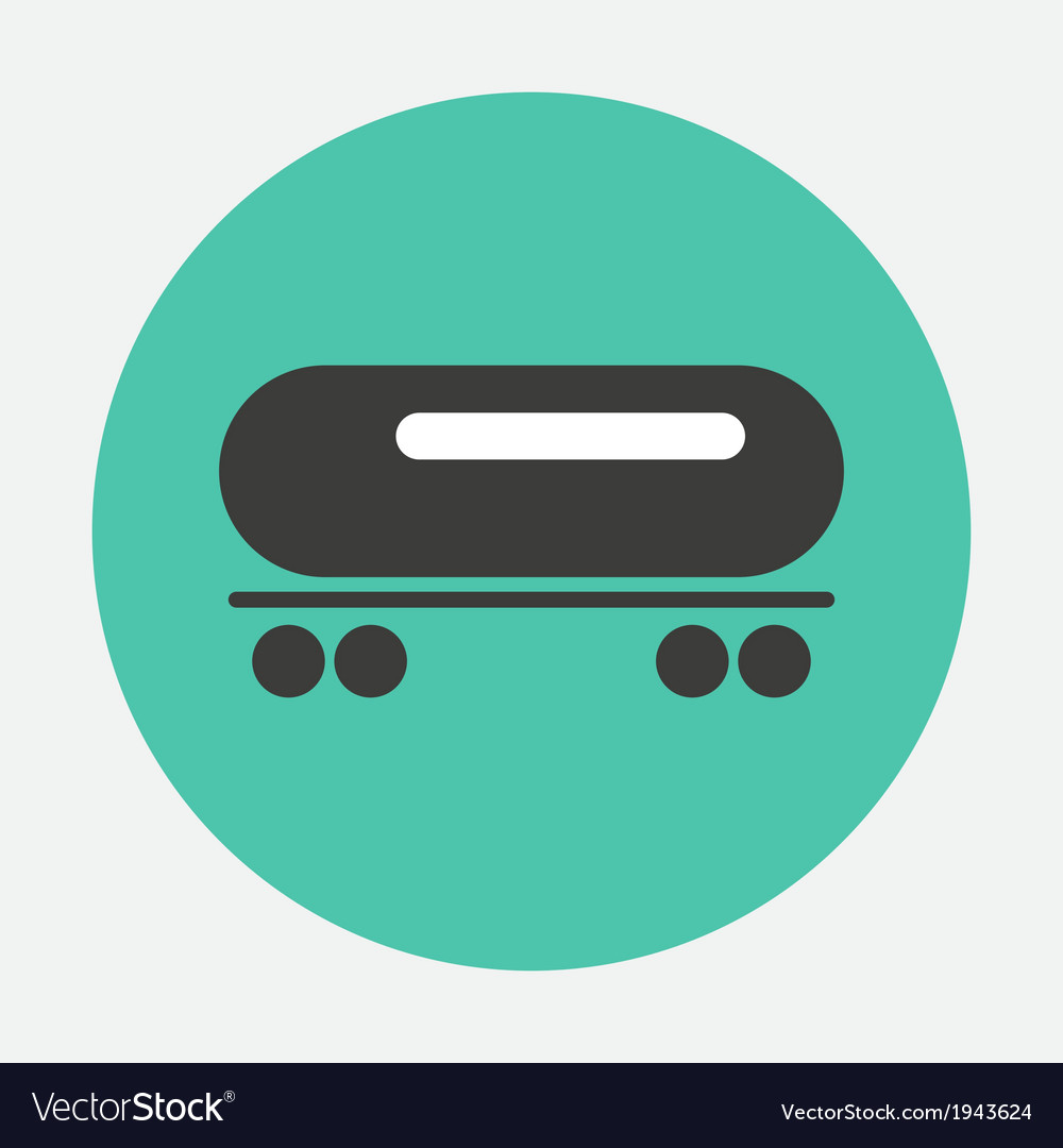 Railway tank icon vector | Price: 1 Credit (USD $1)
