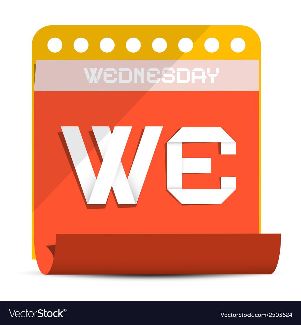 Wednesday paper calendar vector | Price: 1 Credit (USD $1)
