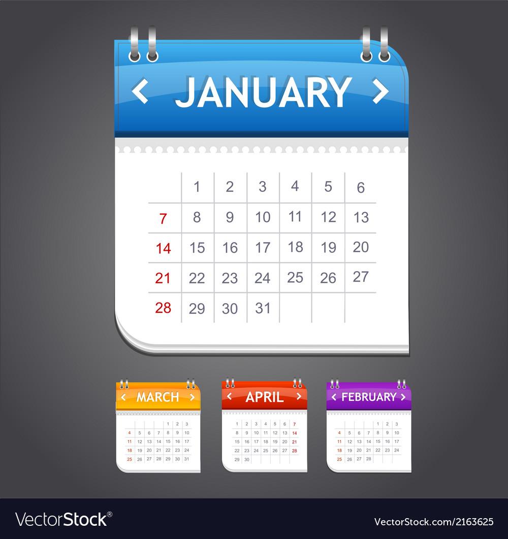 Calendar january vector | Price: 1 Credit (USD $1)