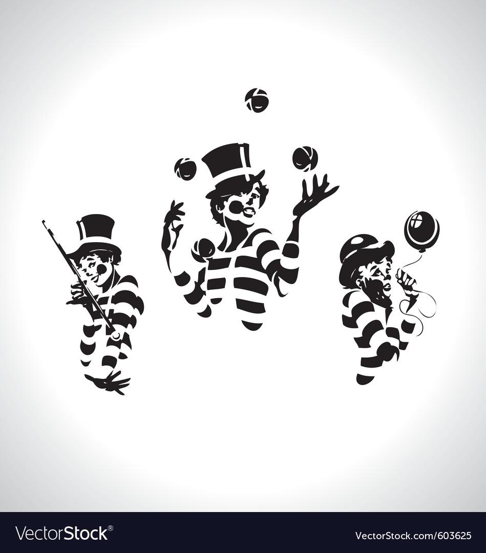 Clown series vector | Price: 1 Credit (USD $1)
