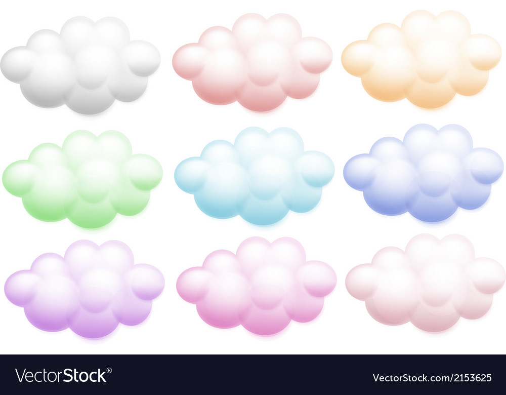 Colourful clouds vector | Price: 1 Credit (USD $1)