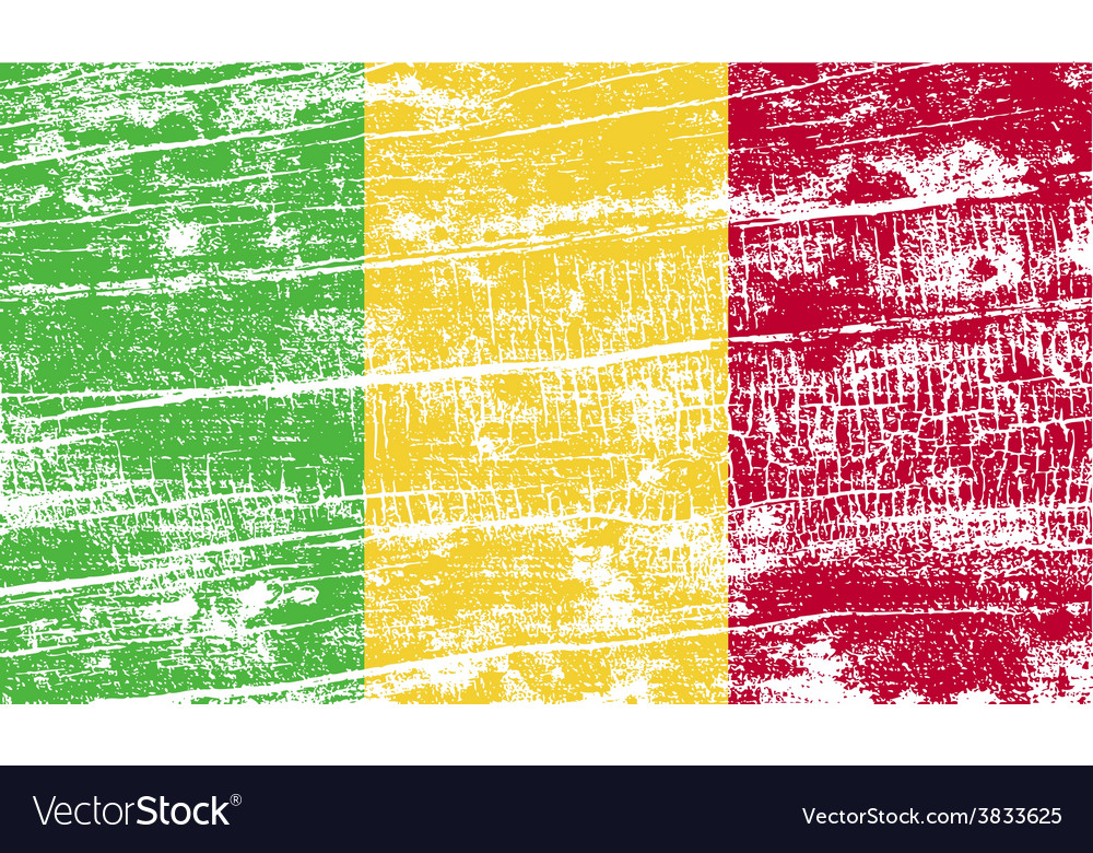 Flag of mali with old texture vector | Price: 1 Credit (USD $1)