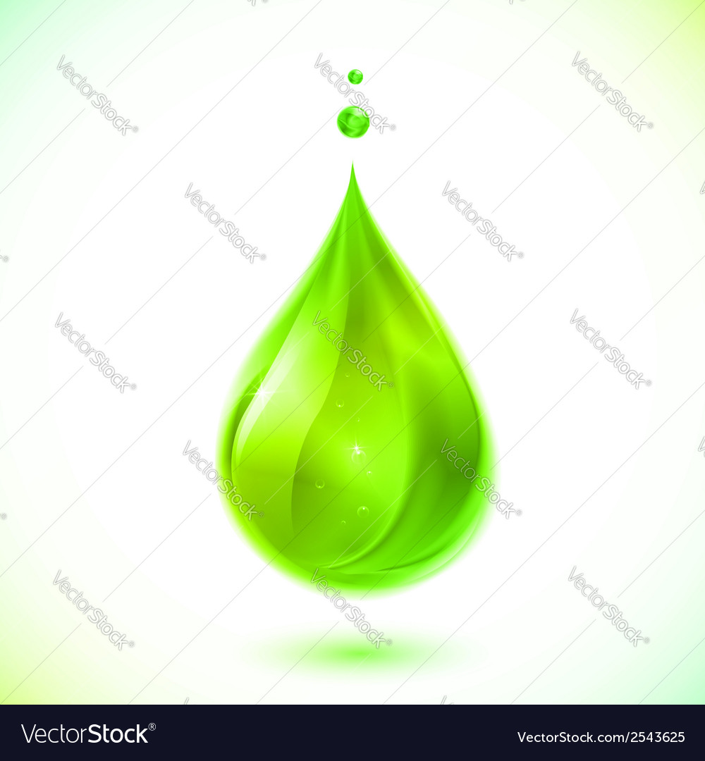 Green liquid drop vector | Price: 1 Credit (USD $1)