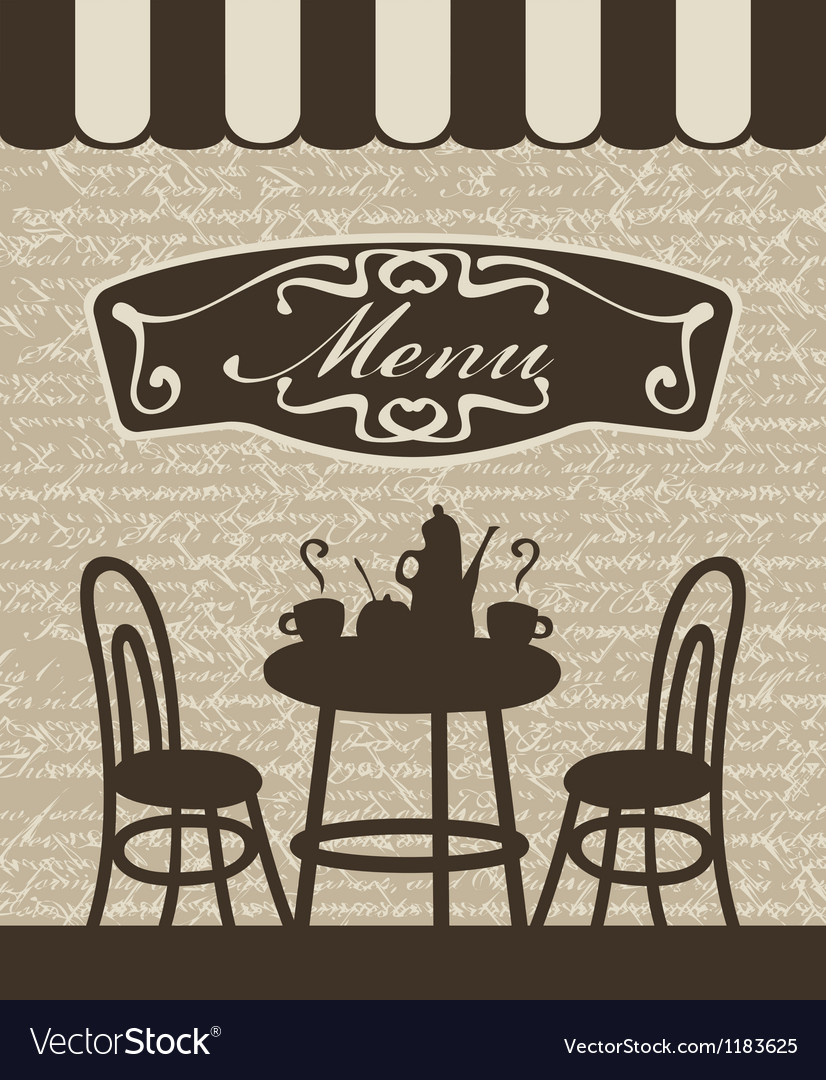 Menu with a table vector | Price: 1 Credit (USD $1)