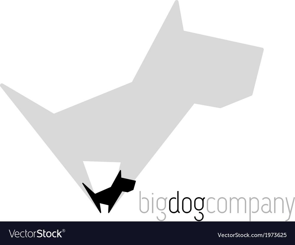Original dog with shadow vector | Price: 1 Credit (USD $1)