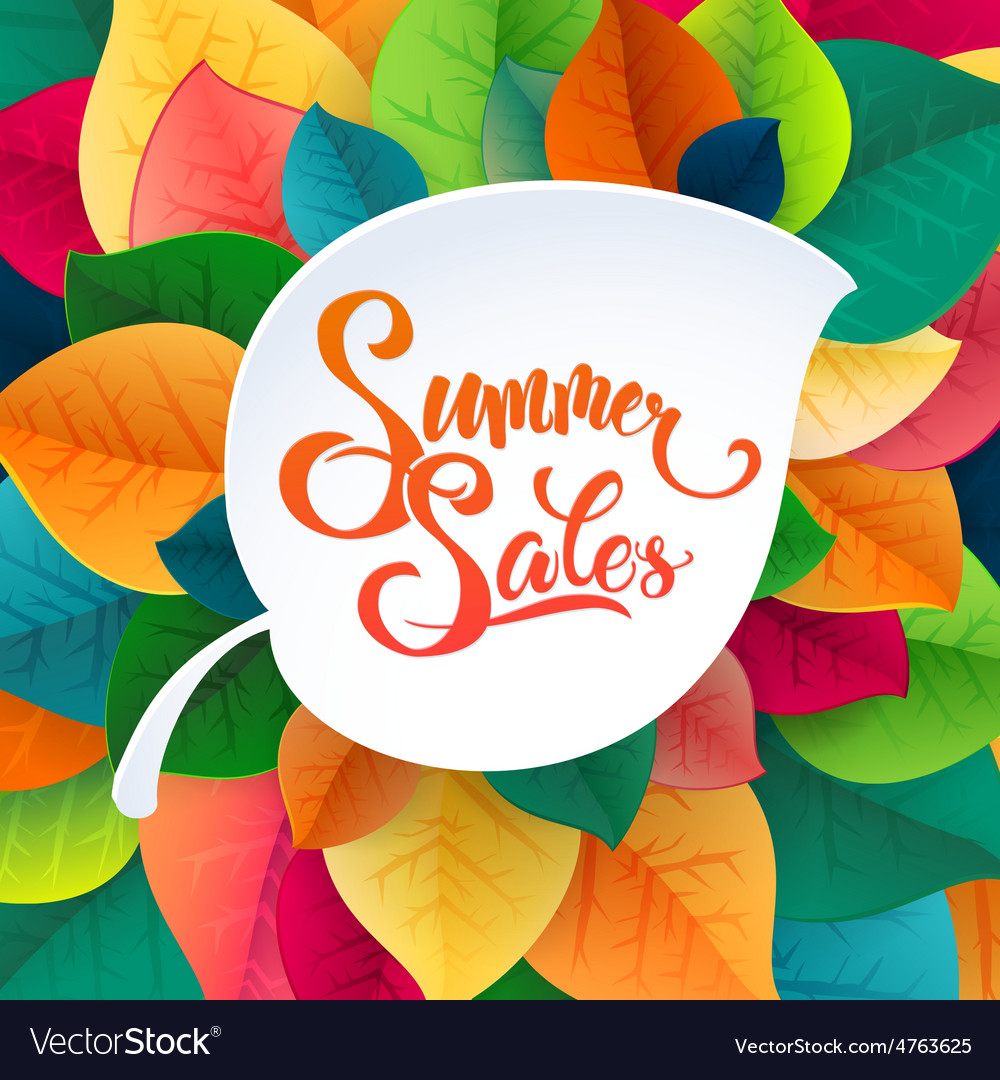 Summer sale promotoin poster vector | Price: 3 Credit (USD $3)