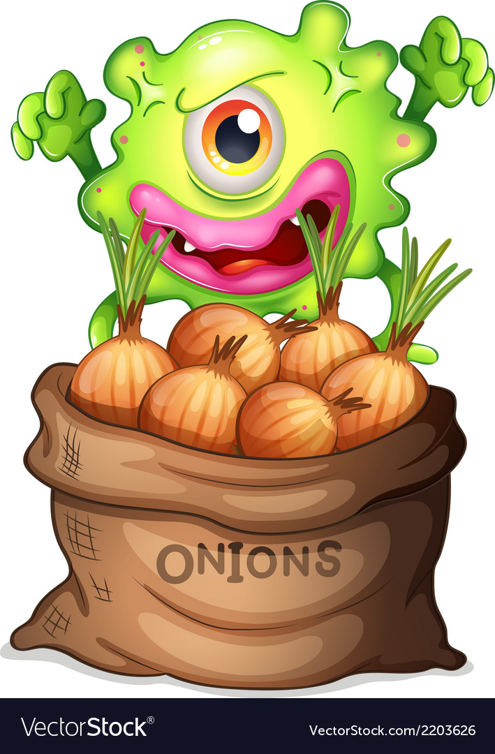A monster and a sack of onions vector | Price: 1 Credit (USD $1)