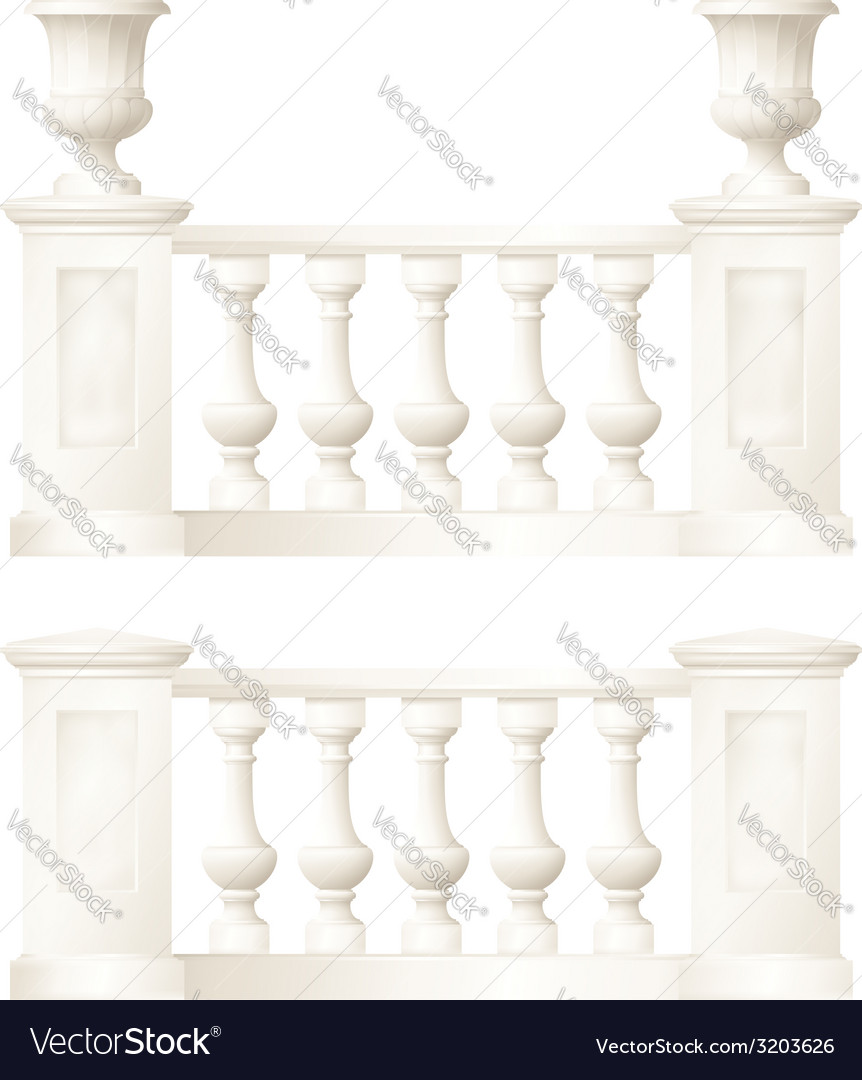 Balustrade drawing vector | Price: 1 Credit (USD $1)