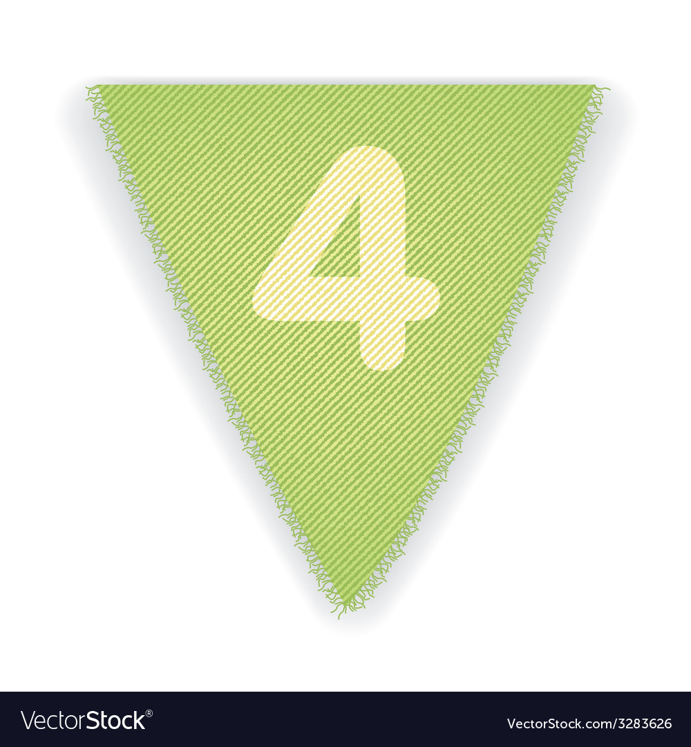 Bunting flag number 4 vector | Price: 1 Credit (USD $1)