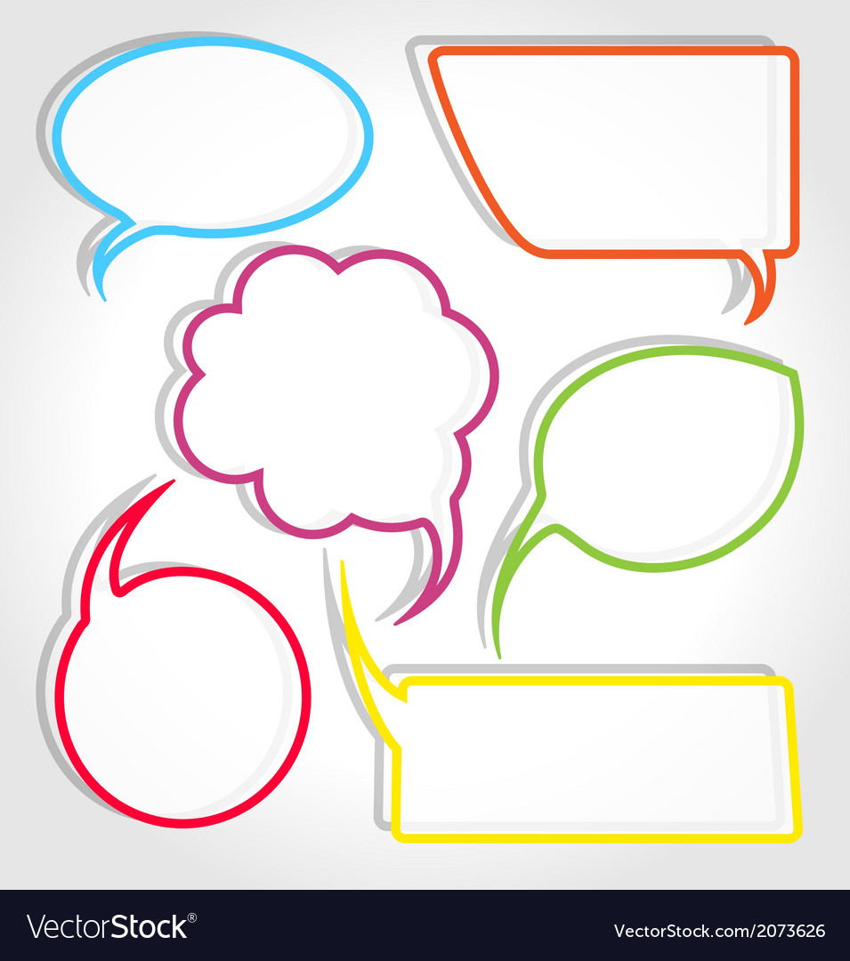 Colorful speech bubble frames vector | Price: 1 Credit (USD $1)